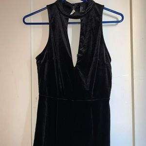 Forever 21 Black Suede Romper SZ: S